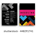 geometric cover background ... | Shutterstock .eps vector #448291741