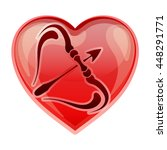 zodiac sign sagittarius  vector ...   Shutterstock .eps vector #448291771
