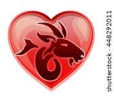 zodiac sign capricorn  vector...   Shutterstock .eps vector #448292011