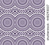 seamless pattern. vintage... | Shutterstock . vector #448293037