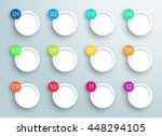 steps 1 to 12 in 3d bubbles... | Shutterstock .eps vector #448294105