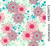 Vintage Flower Pattern Print...