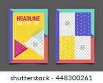 flyer design template  colorful ... | Shutterstock .eps vector #448300261