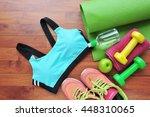 women's sports bra fitness... | Shutterstock . vector #448310065