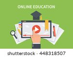Online Education Concept...
