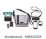 hipster bag and accessories ... | Shutterstock . vector #448322329