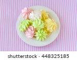 multi colored meringue on a