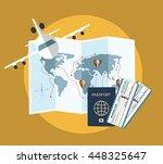 vector modern flat design web... | Shutterstock .eps vector #448325647