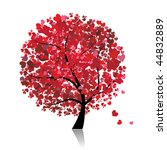 valentine tree  love  leaf from ... | Shutterstock .eps vector #44832889
