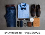 men's fashion  casual outfits... | Shutterstock . vector #448330921