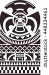 maori   polynesian bracelets... | Shutterstock .eps vector #448334461