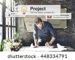 project plan operation job... | Shutterstock . vector #448334791
