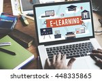 e learning education internet... | Shutterstock . vector #448335865