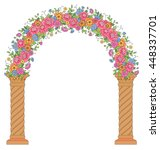 Round Floral Archway Isolated...