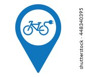 electro bicycle bike e bike pin ... | Shutterstock .eps vector #448340395