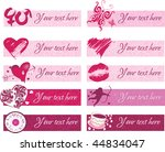 set of pink vector footers for... | Shutterstock .eps vector #44834047