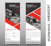red roll up business brochure...   Shutterstock .eps vector #448345297