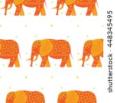 abstract indian elephant.... | Shutterstock .eps vector #448345495
