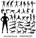 big set of black vector... | Shutterstock .eps vector #448348285
