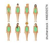 different female body types.... | Shutterstock .eps vector #448350574
