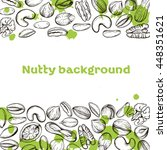 vector background with a line... | Shutterstock .eps vector #448351621