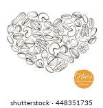 vector set of sketches of... | Shutterstock .eps vector #448351735