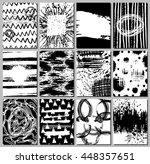 set of 12 handmade journaling... | Shutterstock .eps vector #448357651