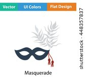 party carnival mask icon. flat...
