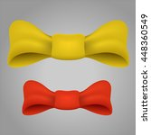 realistic yellow and red bows.... | Shutterstock .eps vector #448360549