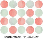 Watercolor Circles In Pink And...