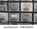 secrets concept image. closed... | Shutterstock . vector #448362049