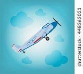 flight of the plane in the sky. ... | Shutterstock .eps vector #448363021
