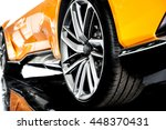 back of an orange modern sport... | Shutterstock . vector #448370431