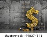 financial concept. the gears...   Shutterstock . vector #448374541