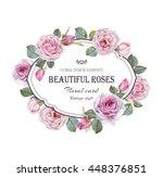 vintage floral greeting card...   Shutterstock . vector #448376851