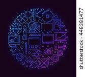 innovation round bright symbol. ... | Shutterstock .eps vector #448381477