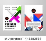 geometric cover background ... | Shutterstock .eps vector #448383589