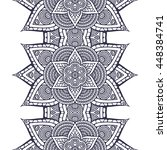 seamless pattern. vintage... | Shutterstock . vector #448384741