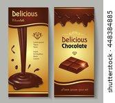 delicious dark premium... | Shutterstock .eps vector #448384885