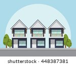 house icon. vector illustration ... | Shutterstock .eps vector #448387381