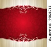 red valentine background with... | Shutterstock .eps vector #44838766