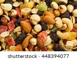 assortment of nuts and candied... | Shutterstock . vector #448394077