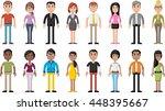 group of cartoon business... | Shutterstock .eps vector #448395667