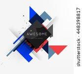 geometric vector background.... | Shutterstock .eps vector #448398817
