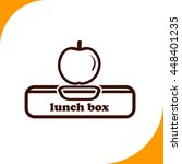 lunch box with apple sign....