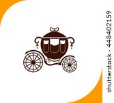 carriage sign. brown icon on... | Shutterstock .eps vector #448402159