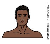 dark skinned male model vector... | Shutterstock .eps vector #448403467