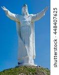 christ the king monument ... | Shutterstock . vector #448407625