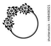 black round frame with flowers... | Shutterstock . vector #448408321