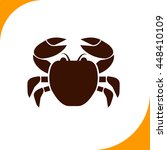 crab sign. brown icon on white...